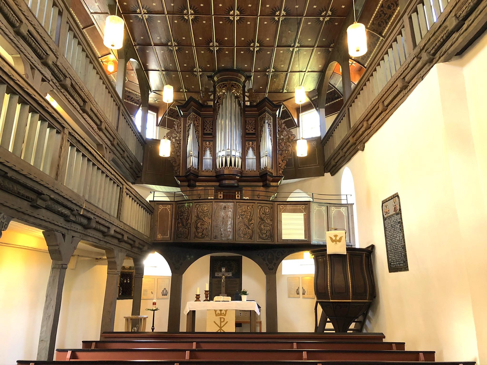 Innenraum Orgel
